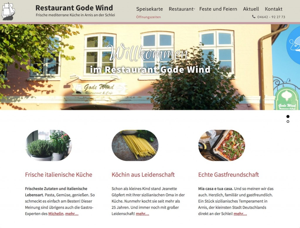 Restaurant Gode Wind in Arnis an der Schlei